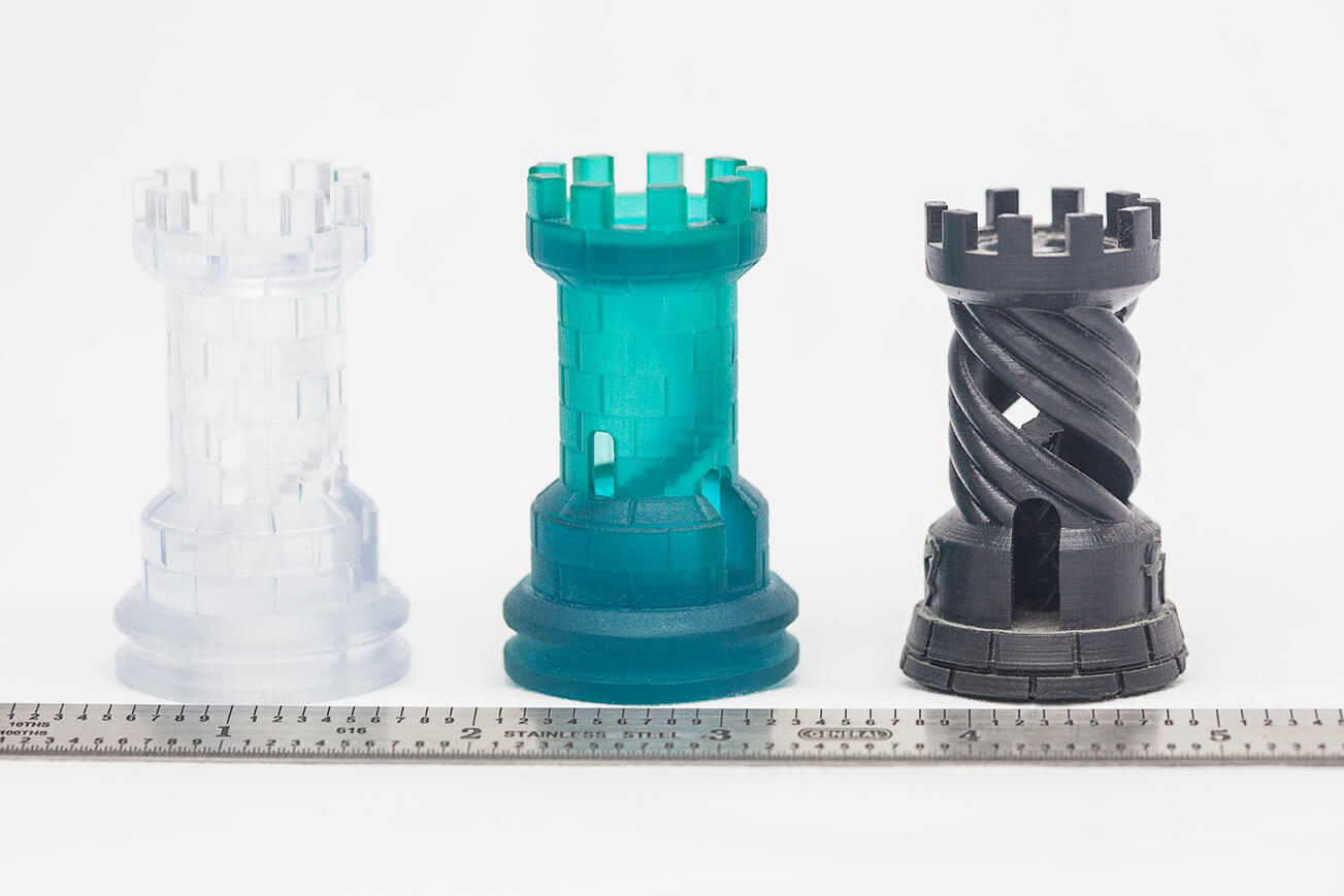 SLA 3D Printing- Clear, Tough & Black Materials