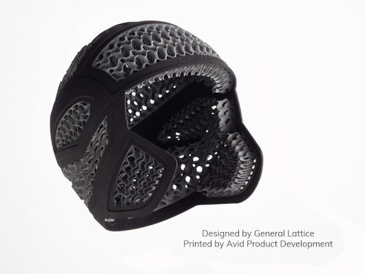 Helmet produced with Multi Jet Fusion